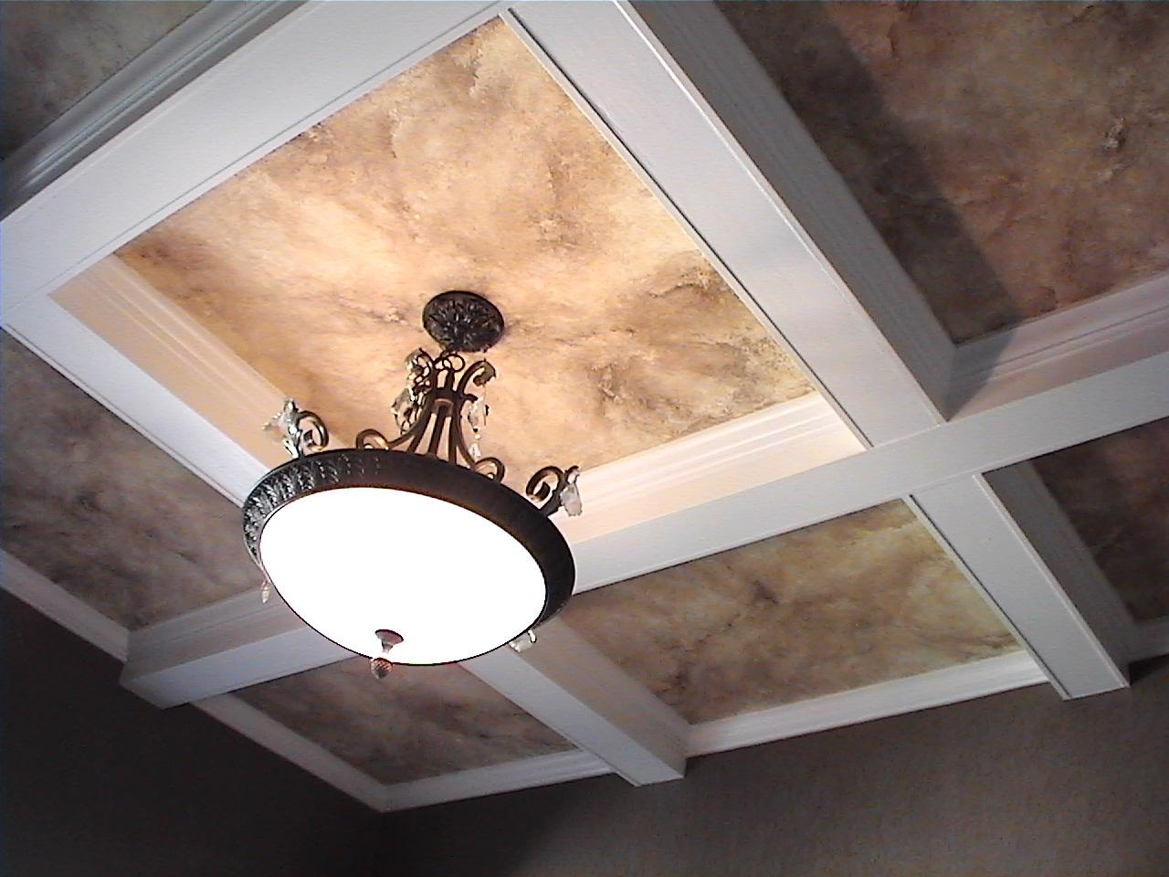 Decorative faux ceiling.